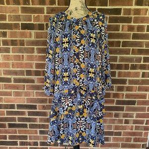 LOFT floral long sleeve dress